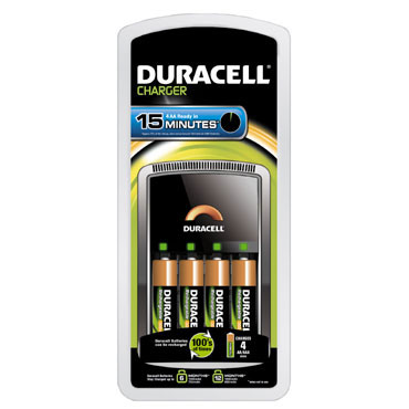 Cargador Duracell15 minutos + 4 Pilas AA 59573
