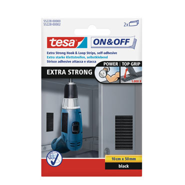 2 tiras on-off extrafuertes Tesa 55228-02