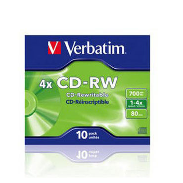 10 CD-RW 700MB 80MIN JC Verbatim