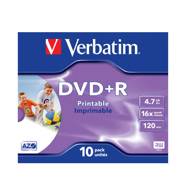 10 DVD+R 4,7GB 16X Verbatim 43508