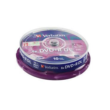 10 DVD+R DL 8,5GB 8X Verbatim