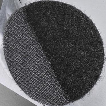 1500 puntos velcro bucle negros 13 mm. Yosan