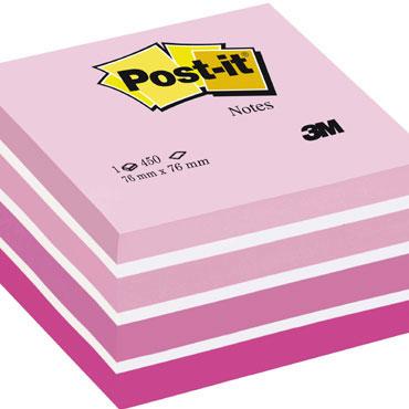 Cubo 450 notas Post-it rosas 76x76 mm.  2028-P
