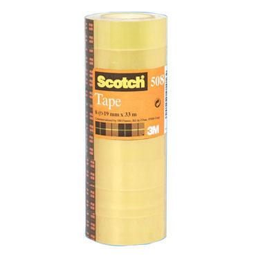 Pack 8 cintas adhesivas Scotch 19 mm. x 33 m. 508/1933