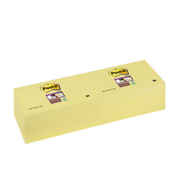 BL90 notas Post-it Super Sticky amarillas 76 x 127 mm. 65512SSCY