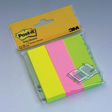 3BL100 notas Post-it colores 25 x 76 mm 671/3