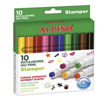 10 rotuladores Stamper Alpino AR000059