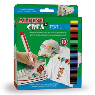 10 rotuladores Crea + Textil Alpino AR000132