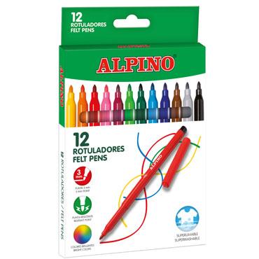12 rotuladores de color Alpino AR001002