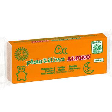 12 barras plastilina 150 g. naranja Alpino DP00007001