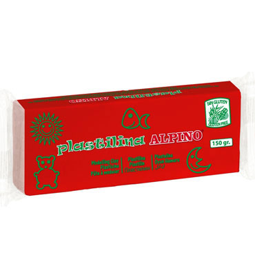 12 barras plastilina 150 g. rojo Alpino DP00007101