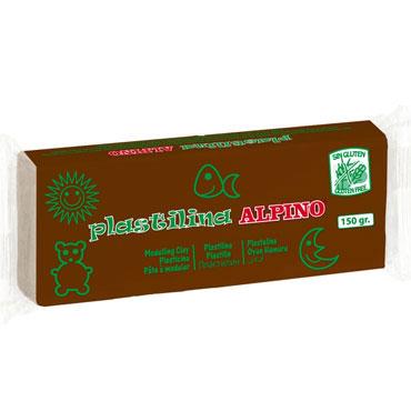 12 barras plastilina 150 g. marrón Alpino DP00007801