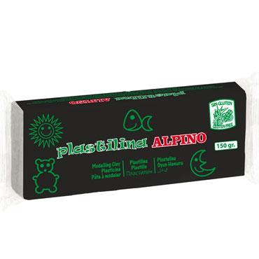 12 barras plastilina 150 g. negra Alpino DP00007901