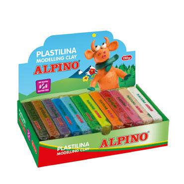 12 barras plastilina 150 g. surtidas Alpino DP000918