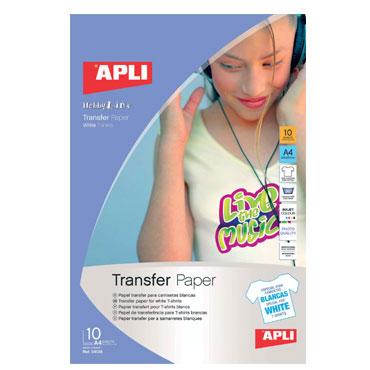 Transfer camiseta blanca 10HJ Din A-4 Apli 04128