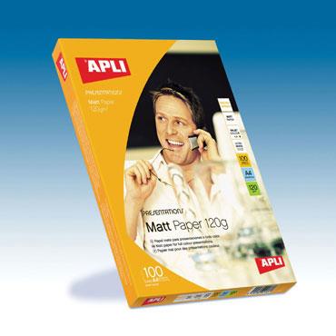 Papel Matt Quality 120 g/m2 100HJ Din A-4 Apli