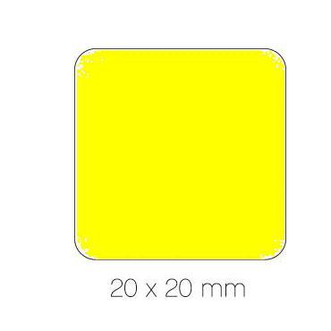 Gomet amarillo cuadrado 20 mm. Apli 04875