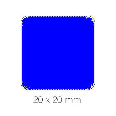 Gomet azul cuadrado 20 mm. Apli 04876