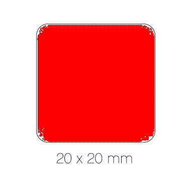 Gomet rojo cuadrado 20 mm. Apli 04877