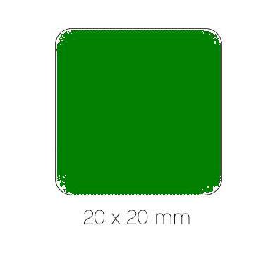 Gomet verde cuadrado 20 mm. Apli 04878