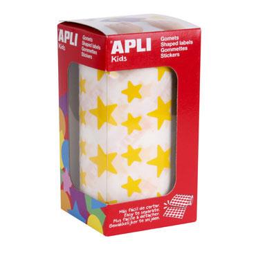 Gomet amarillo estrellas grandes y pequeñas Apli 04887