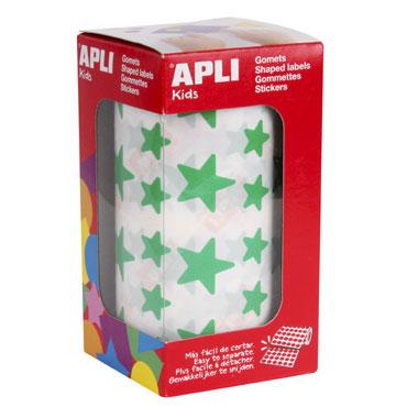 Gomet verde estrellas grandes y pequeñas Apli 04890