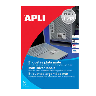 Etiqueta adhesiva intemperie 63,5x29,6 mm. 20HJ Din A-4 (540U) Apli 10070