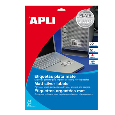 Etiqueta adhesiva intemperie 45,7x21,2 mm. 20HJ Din A-4 (960U) Apli 10066