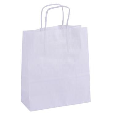 50 bolsas de asa blancas 18x8x11 cm. Apli  101853