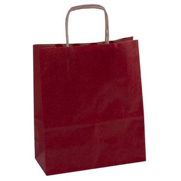 50 bolsas de asa rojas 18x8x11 cm. Apli  102068