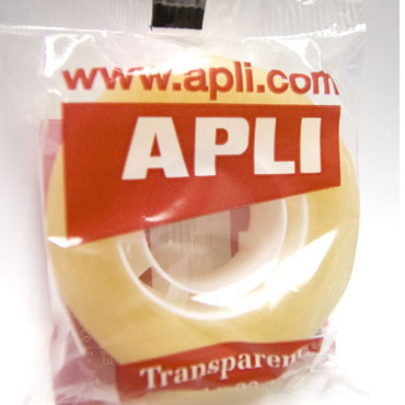 Cinta adhesiva transparente 19 mm. x 33 m. Apli 11103