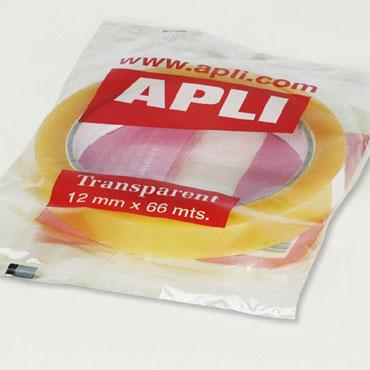 Cinta adhesiva transparente 12 mm. x 66 m. Apli 11265