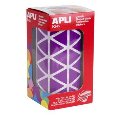 Gomet lila triángulo 20 mm. Apli 11495