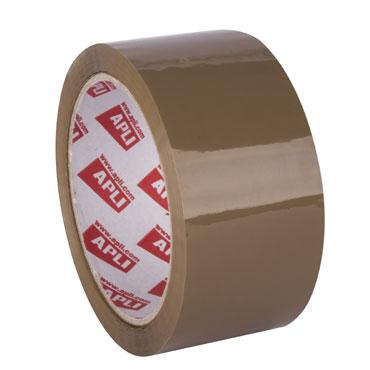 Cinta embalaje PP marrón bajo ruido 66 m. x 48 mm. Apli 11942