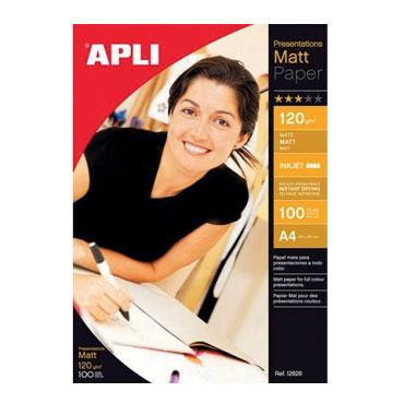 Papel MATT PAPER 120 g/m² 100HJ Din A-4 Apli 12626