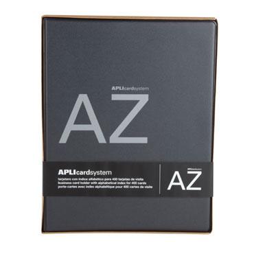 Tarjetero PVC negro A-4 400 tarjetas Apli 13168