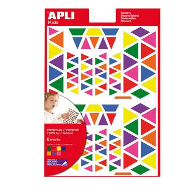 Gomet multicolor Triángulo Apli 13239