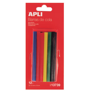 10 barras cola de colores para pistola eléctrica Apli 16668