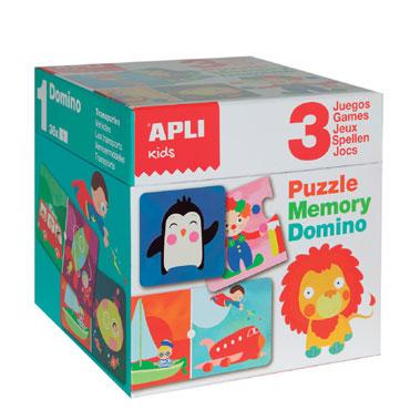 Puzzle, Dominó y Memory Apli 13940