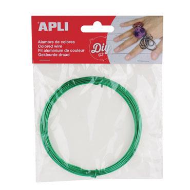 Bobina alambre verde Apli 14096