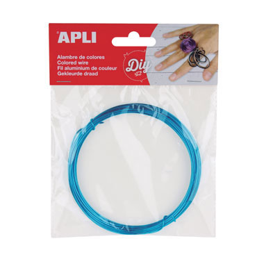 Bobina alambre azul Apli 14098