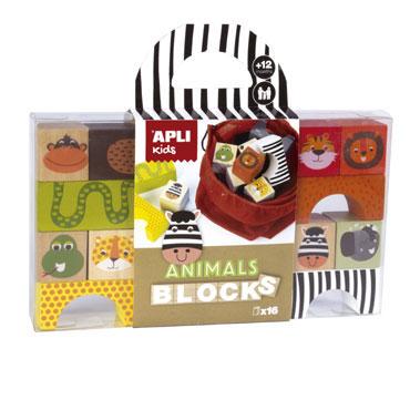 Wooden Blocks animales Apli 15186