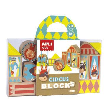 Wooden Blocks circo Apli 15268