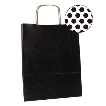 50 bolsas de asa negras 25x11x31 cm. Apli  101840
