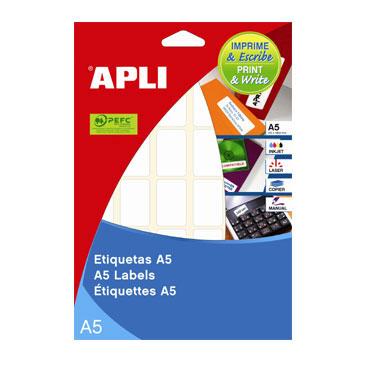 Etiqueta adhesiva 42x74,6 mm. 15HJ Din A-5 (150U) Apli 01878