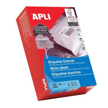 Etiqueta adhesiva 70x35 mm. 500HJ Din A-4 (12000U) Apli 01782