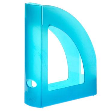 Revistero de plástico azul translúcido Archivo 2000 2004LGTL