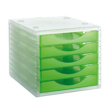 Módulo 5 cajones ArchivoTec 4000 cristal/kiwi Archivo 2000 4005KWTL