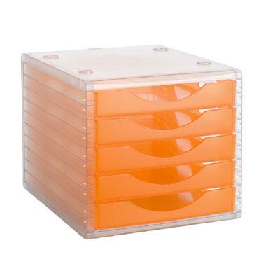 Módulo 5 cajones ArchivoTec 4000 cristal/naranja Archivo 2000 4005NATL