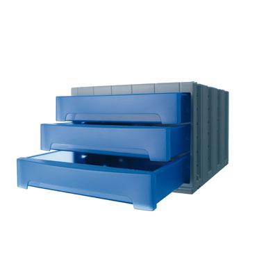 Módulo 3 cajones ArchivoTec 6000 azul Archivo 2000 6003AZTL